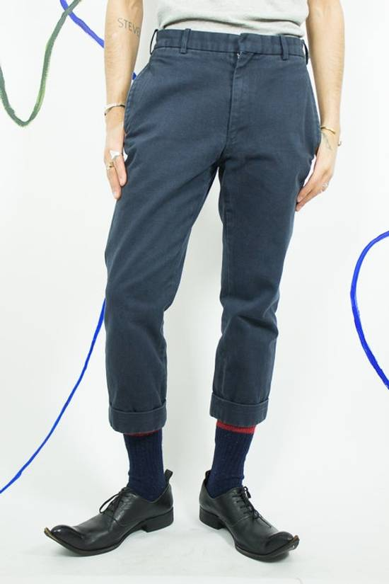 Thom Browne Navy Blue Cropped Pants Size US 29