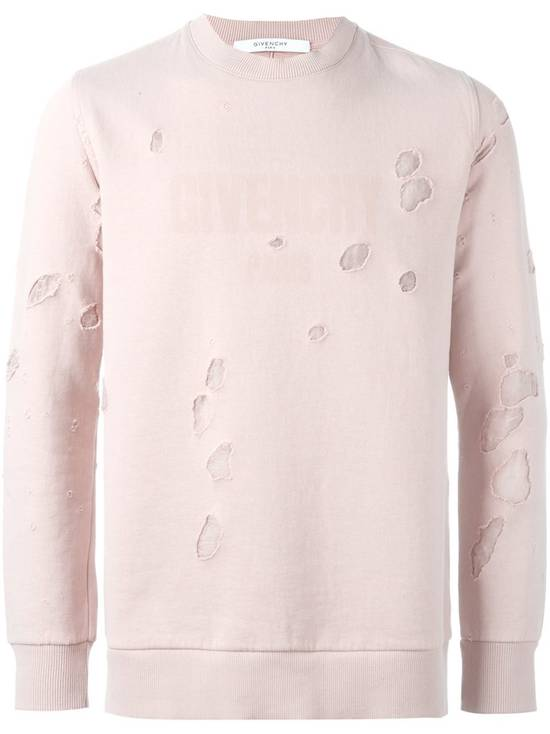 Givenchy Pink Destroyed Logo Sweater Size US XS / EU 42 / 0 - 1
