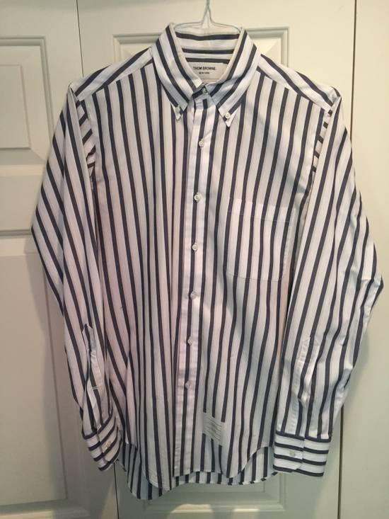 Thom Browne Classic Shirt In Thick Stripe Poplin Size US M / EU 48-50 / 2