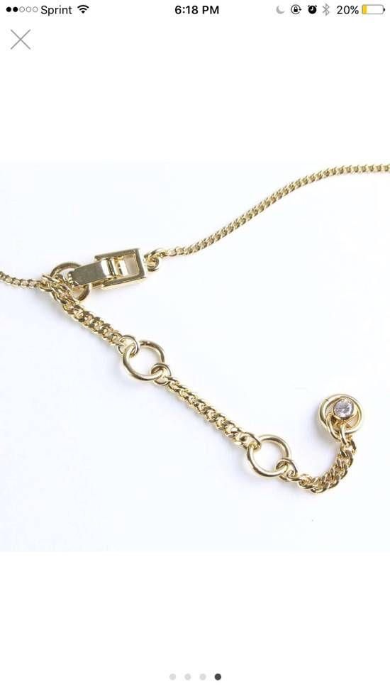Givenchy Givenchy Black Crystal Pendant Gold Tone Necklace Chain Size ONE SIZE - 3