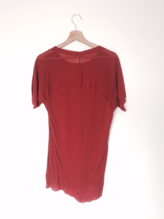 Damir Doma Rare Red Tee Silk Blend Size S Short Sleeve T