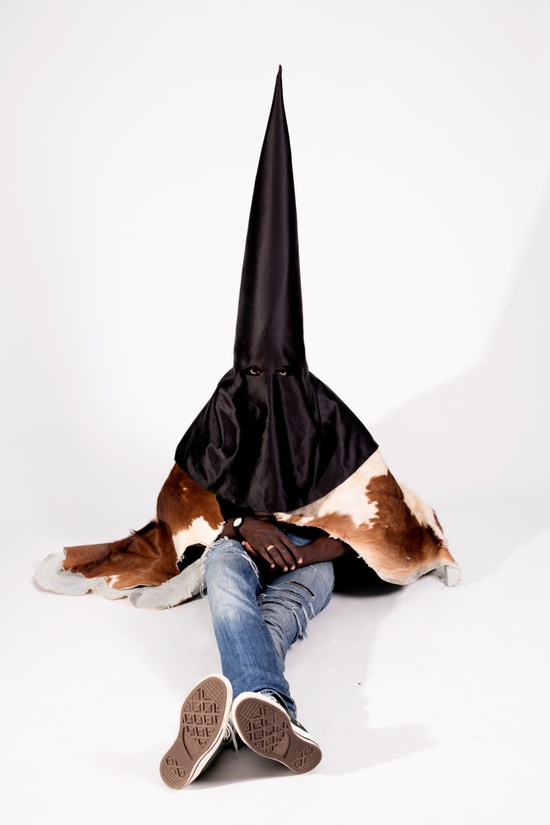 Kanye West KANYE WEST 'BLKKK SKKKN HEAD' MEMORABILIA- conical mask worn in 2013 music video Size ONE SIZE - 5