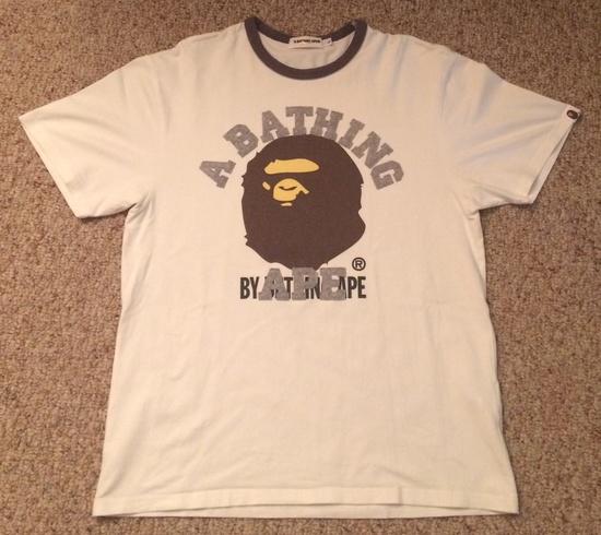 Bape bape college tee size l short sleeve t shirts for for Bape t shirt sizing