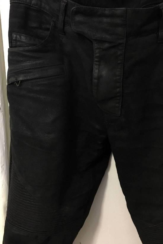Balmain Waxed biker jeans black Size US 32 / EU 48 - 6