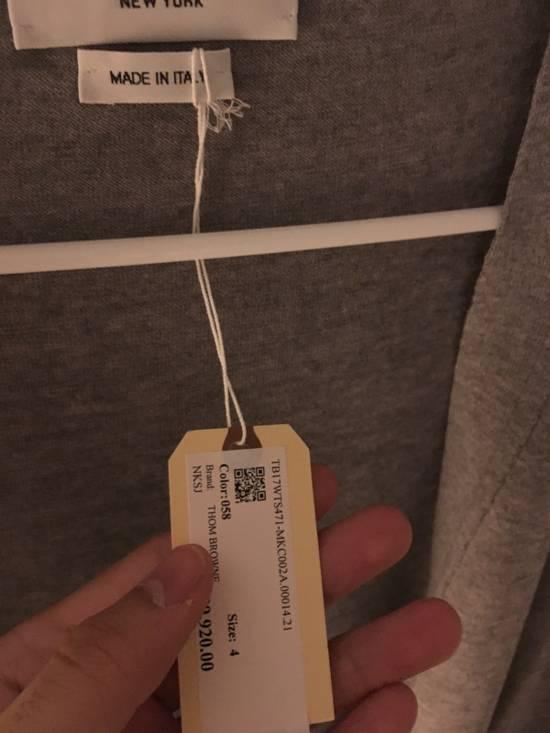 Thom Browne Grey Classic V-neck Cardigan Size US XL / EU 56 / 4 - 1