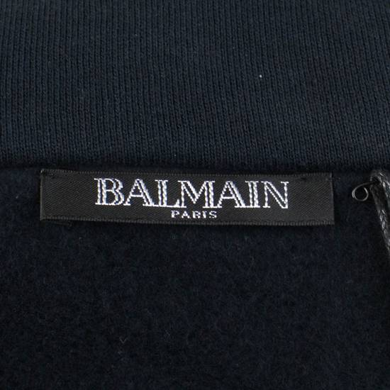 Balmain Men's Blue Cotton Snake Embroidered Henley Sweater Size Large Size US L / EU 52-54 / 3 - 6