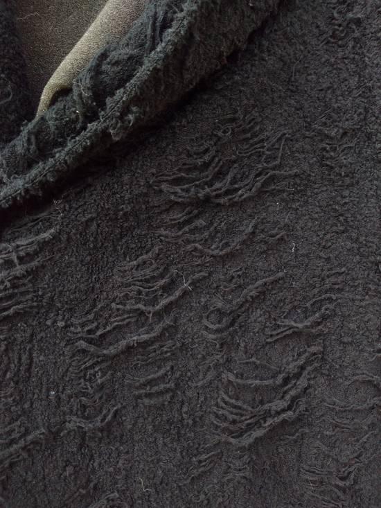 Julius Black Hooded Cotton Wool Jacquard Cardigan Size US M / EU 48-50 / 2 - 5