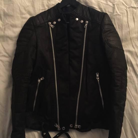 Balmain Balmain waxed biker jacket Size US XL / EU 56 / 4 - 2