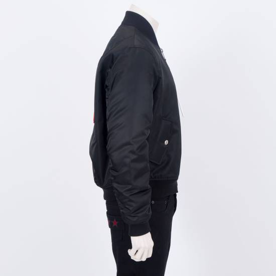Givenchy 2550$ New Black Padded Nylon Illuminati Patch Bomber Jacket Size US L / EU 52-54 / 3 - 6