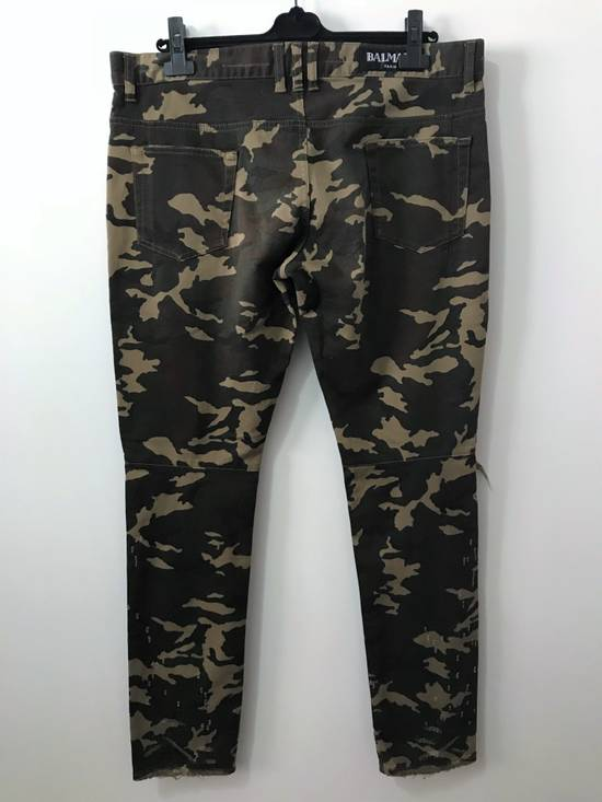 Balmain Size 36 - Heavily Distressed Camo Biker Jeans - FW17 - RARE Size US 36 / EU 52 - 3