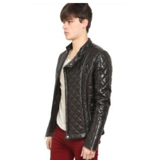 Balmain QUILTED LEATHER BIKER JACKET Size US M / EU 48-50 / 2 - 9