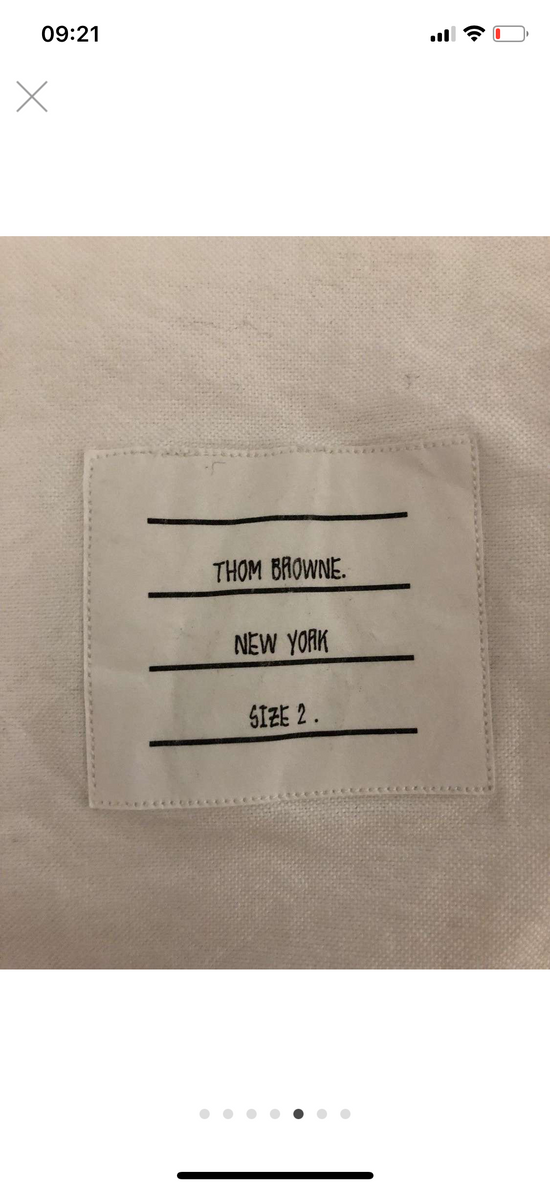 Thom Browne hector embroidered arm stripe shirt Size US M / EU 48-50 / 2 - 7