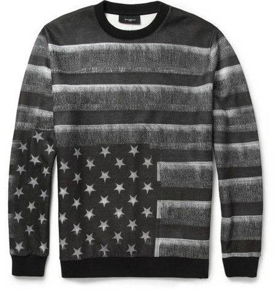 Givenchy Black/Grey american flag sweatshirt Size US M / EU 48-50 / 2