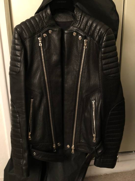 Balmain Classic Leather Jacket Size US M / EU 48-50 / 2