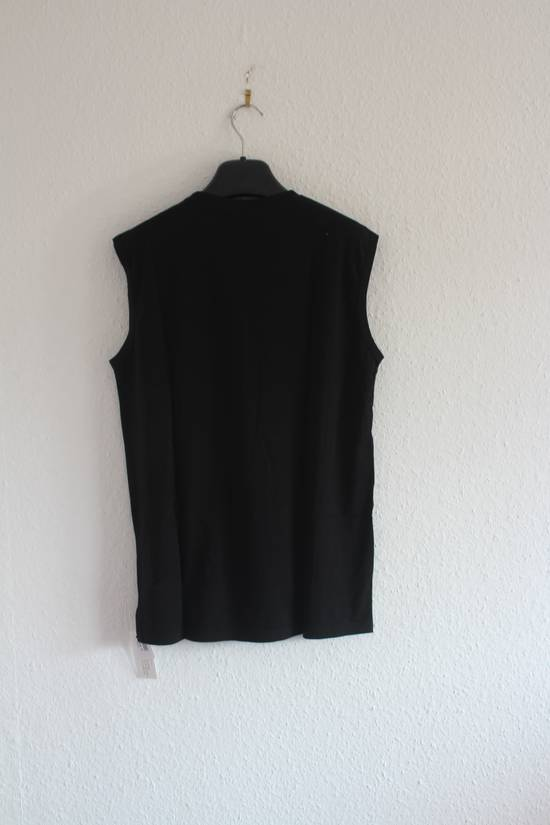 Balmain SS11 Decarnin Era Black Sleeveless Metal Pin Shirt Hand Made New Size US M / EU 48-50 / 2 - 4