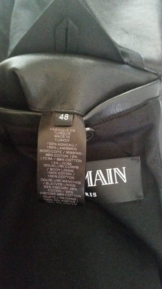 Balmain Black Lambskin Overlong Biker Perfecto Jacket EU48/US38 Size US M / EU 48-50 / 2 - 8