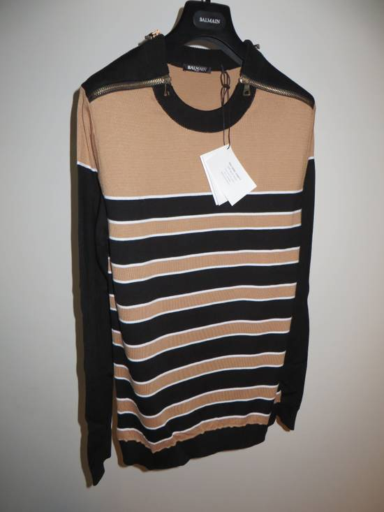 Balmain Stripped sweater with zippers Size US L / EU 52-54 / 3