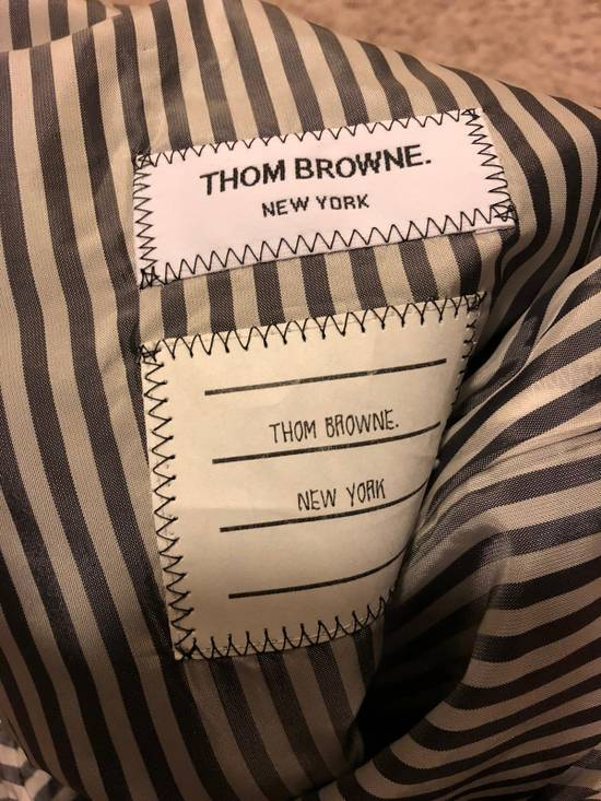 Thom Browne Thom Browne Pinstripe Trousers With Flappy Back Pockets And Cashmere Leg Warmer Size US 30 / EU 46 - 7