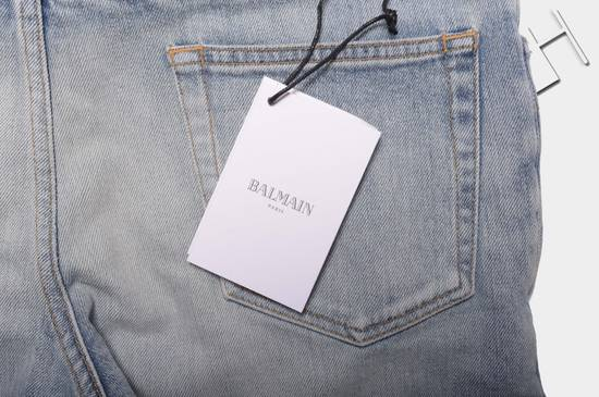 Balmain 1565$ Skinny Light Blue Distressed Biker Jeans Size US 30 / EU 46 - 7