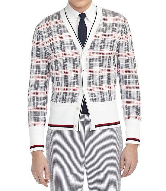 Thom Browne Plaid Striped Cardigan Size 0 NEW Size US XS / EU 42 / 0
