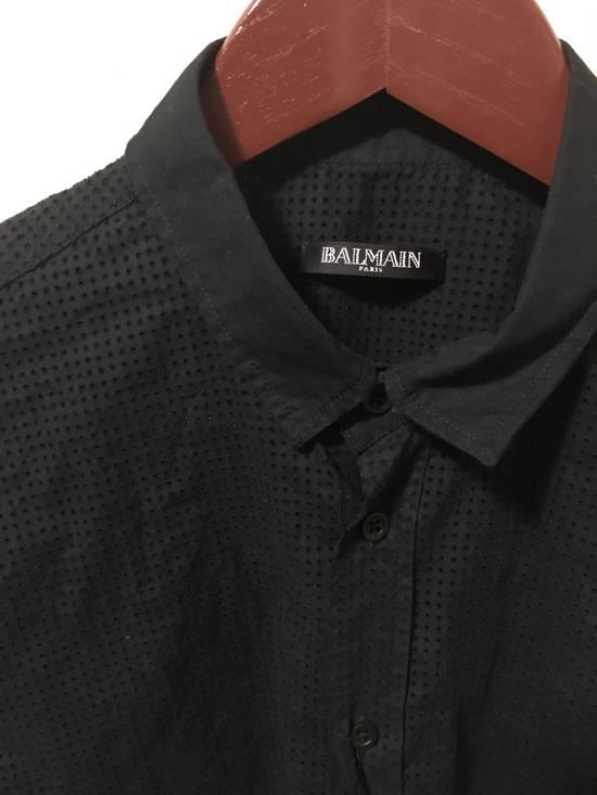 Balmain SS15 Perforated Dress Shirt Size US M / EU 48-50 / 2 - 1