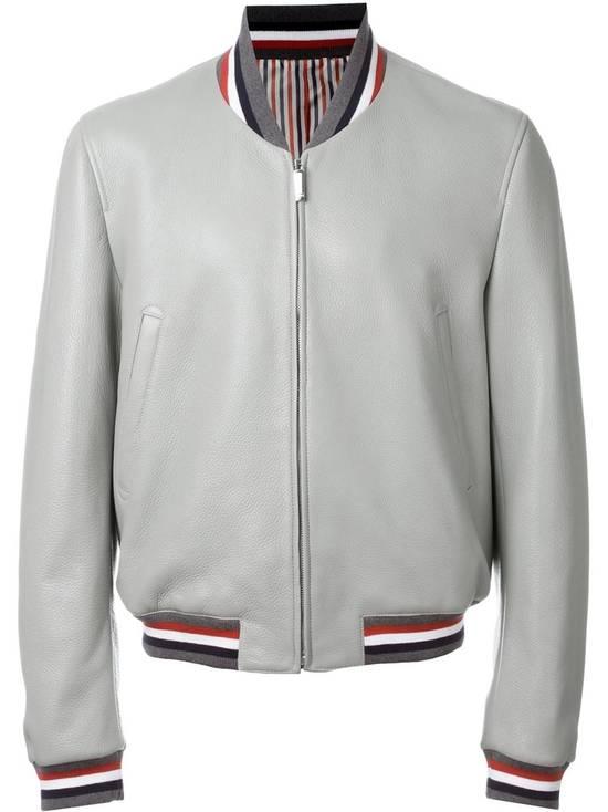 Thom Browne Thom Brown Deerskin Leather Varsity Jacket Grey Size 3 EU50 Medium RRP $3325 Size US M / EU 48-50 / 2 - 2