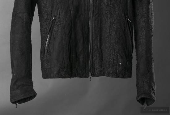 Julius = last drop = distressed lamb leather colarles jacket Size US M / EU 48-50 / 2 - 3