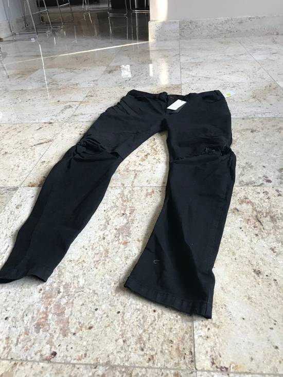Julius 2-3-4 / 577PAM13 Knee Slit Distressed 11.5 Oz Denim In Black Size US 34 / EU 50 - 3