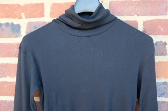 Balmain Black Ribbed Knit Roll Neck T-shirt Size US L / EU 52-54 / 3 - 3