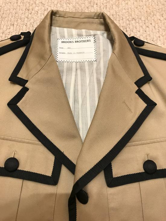 Thom Browne GROSGRAIN TRIMMED BEIGE MILITARY OFFICER JACKET Size 48R - 10