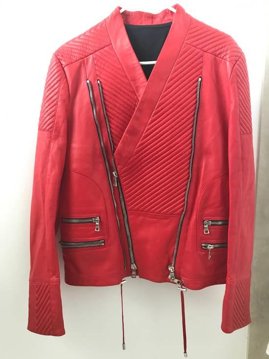 Balmain Nappa Leather Biker Jacket Size US M / EU 48-50 / 2 - 8