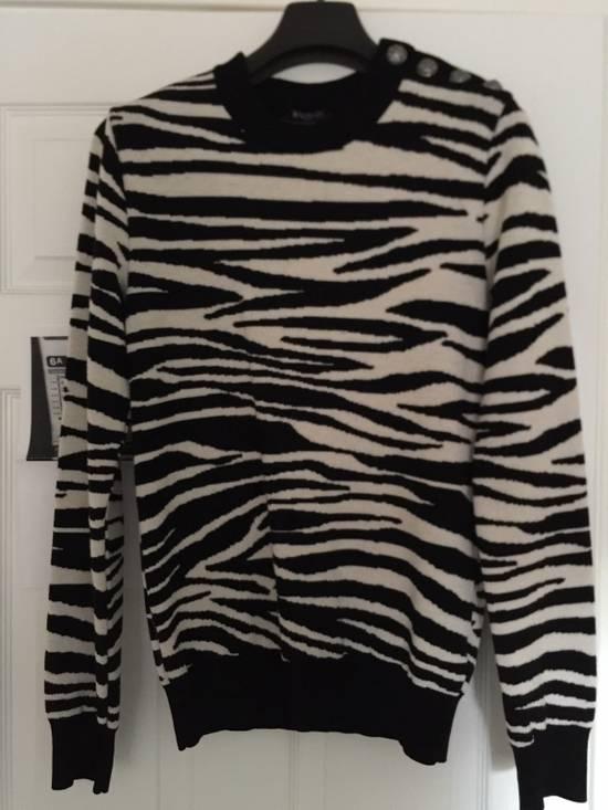 Balmain Balmain Zebra Strips Wool Sweater Size US S / EU 44-46 / 1