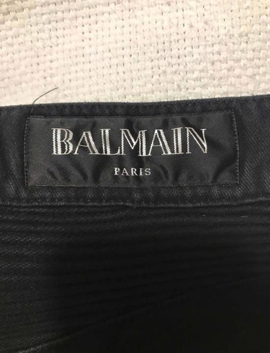 Balmain Black Cotton Biker Jeans Size US 30 / EU 46 - 1
