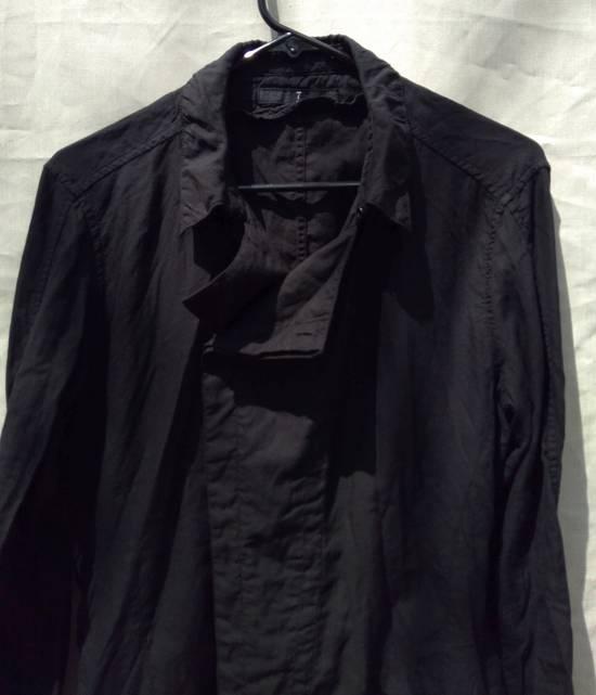 Julius Black Belted Asymmetric Shirt s/s13 Size US M / EU 48-50 / 2 - 3