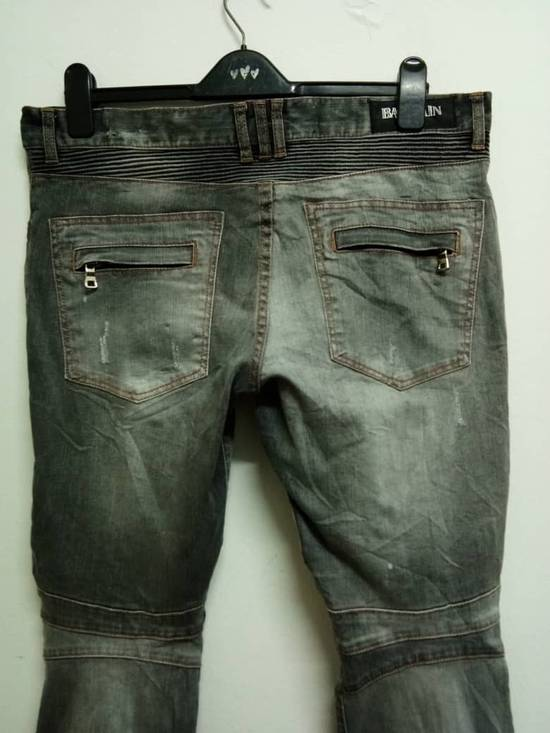 Balmain Rare Grey Balmain Denim Nice Faded Design Size US 36 / EU 52 - 3