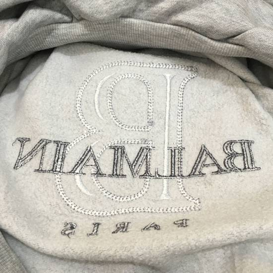 Balmain Vtg PIERRE BALMAIN PARIS Big Logo Made In JAPAN Gray MEDIUM Sweatshirt Jumper Size US M / EU 48-50 / 2 - 6