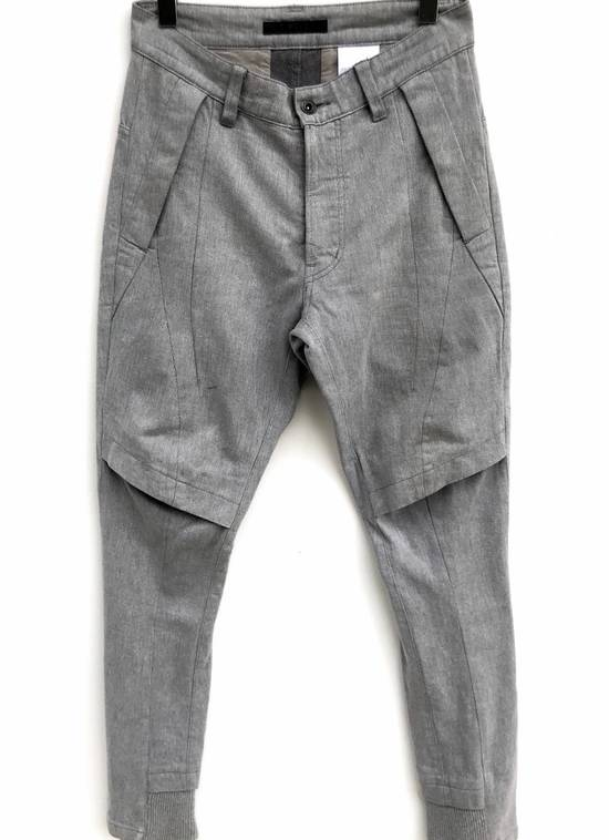 Julius FW2013 Ma Julius Military Tactical Paracute Denim Button Fly Light Grey Army Cotton Denim Assembled In Japan Trousers Pants Size US 29 - 1
