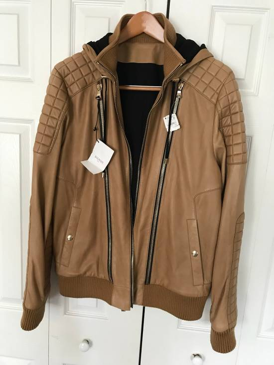 Balmain New $4155 Lambskin Leather Jacket Size US L / EU 52-54 / 3 - 4