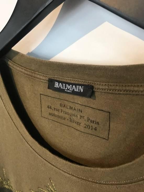 Balmain Balmain Khaki American Eagle Crest T-Shirt Size US L / EU 52-54 / 3 - 3