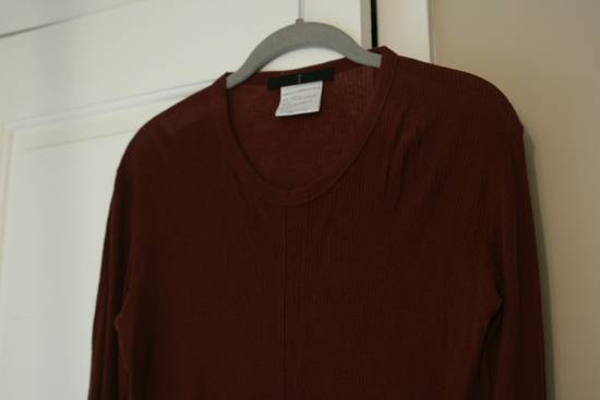 Julius FW08 Blood Red Cotton/Cashmere Rib L/S Size US S / EU 44-46 / 1 - 2