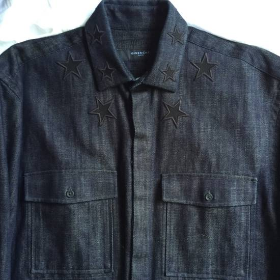Givenchy FINAL DROP GIVENCHY Denim Double Star Collar Shirt Size US M / EU 48-50 / 2 - 1