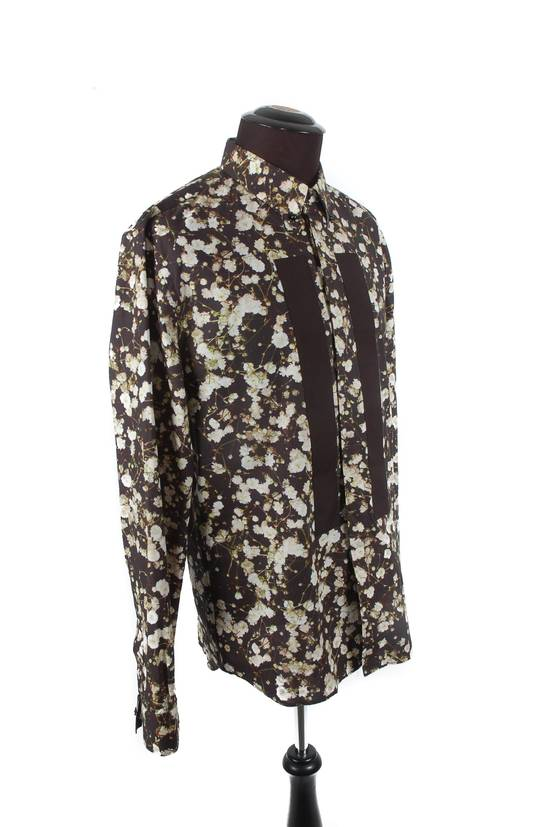 Givenchy Givenchy Black Cotton Floral Button-Down Size US M / EU 48-50 / 2 - 1