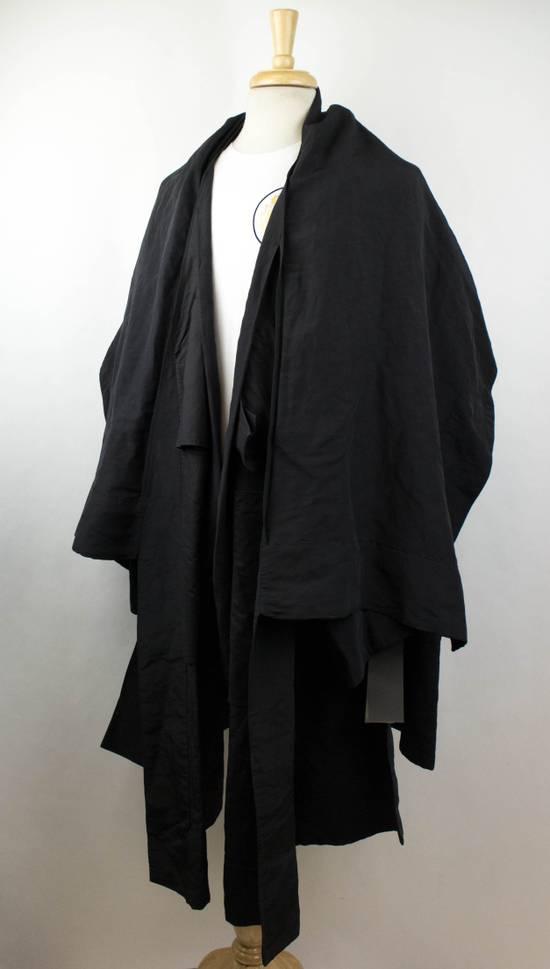 Julius Black Linen Blend 'Kimono Sleeve Long' Trench Coat 2/S Size US S / EU 44-46 / 1 - 1