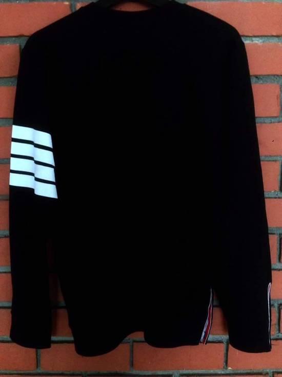 Thom Browne Nice Item !! Black Thom Browne With Stripe Sweatshirt Size US M / EU 48-50 / 2 - 1