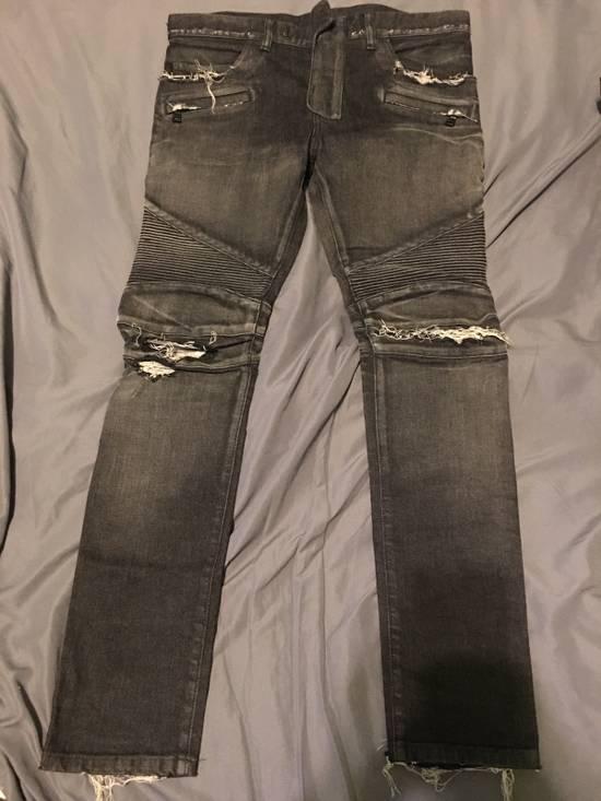 Balmain Balmain Black Biker Jeans Size 32 Size US 32 / EU 48 - 1