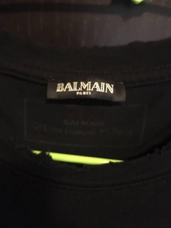 Balmain Distressed Balmain Logo Tshirt Size US L / EU 52-54 / 3 - 1