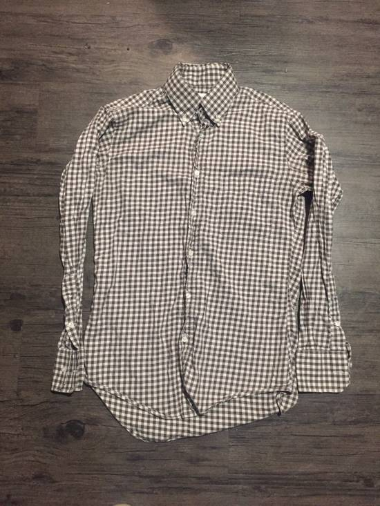 Thom Browne CHECKERED BUTTON UP SHIRT Size US S / EU 44-46 / 1