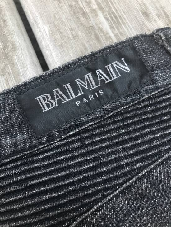 Balmain SS/11 Decarnin Era Washed Ripped Distressed Black Biker Jeans Size US 32 / EU 48 - 4