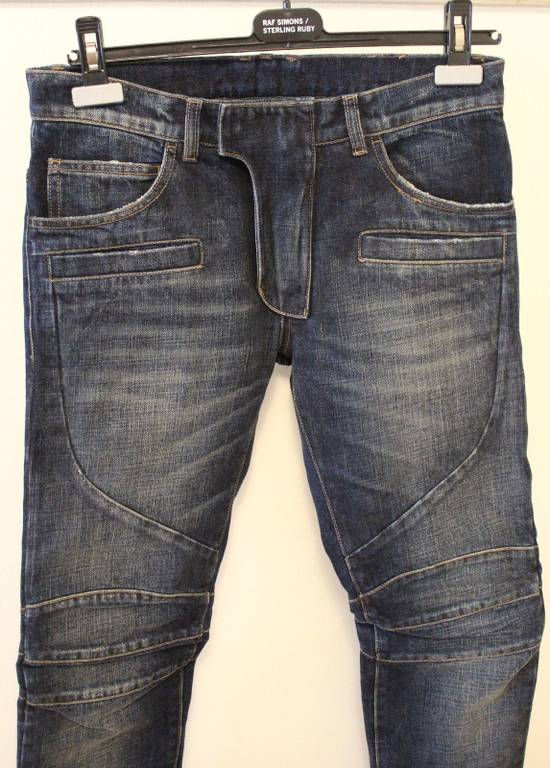 Balmain Balmain Side Distressed Moto Biker Jeans Size 28 BNWT Blue Denim Size US 28 / EU 44 - 1