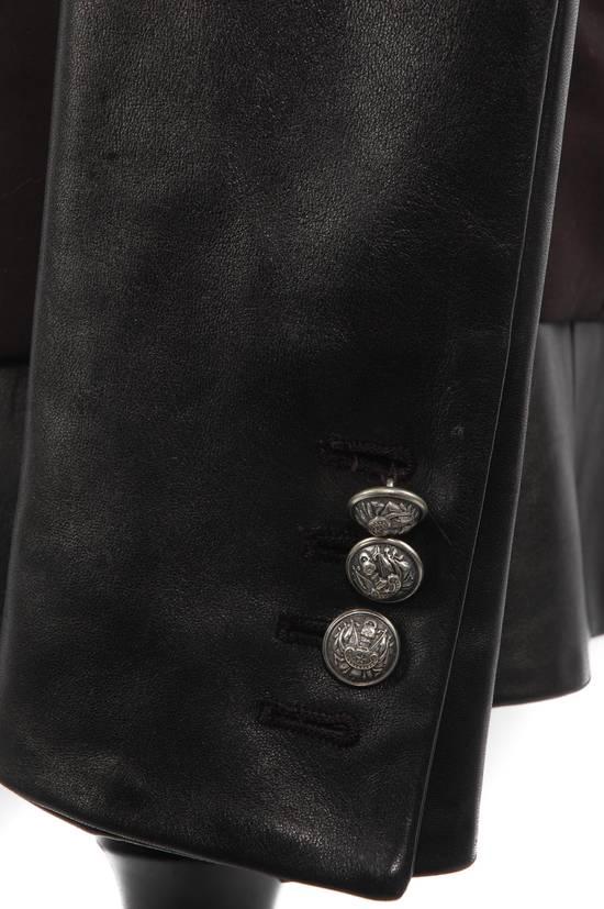 Balmain Balmain Black Leather Sleeve Blazer Size US S / EU 44-46 / 1 - 4